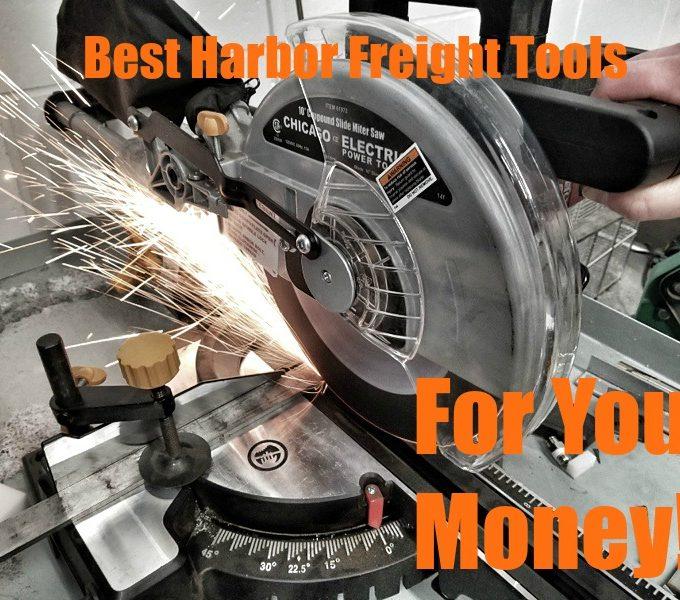 Harbor Freight Miter Saw cutting metal