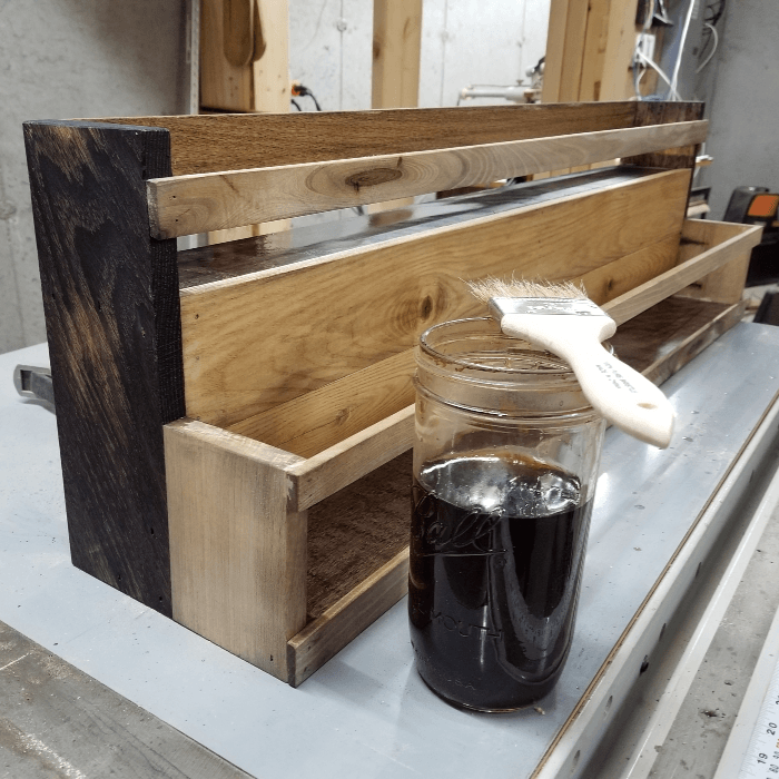 Vinegar & Steel Wool Stain Coffee Bar