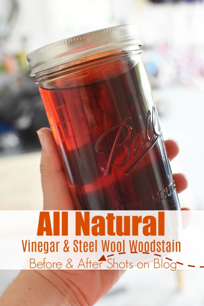 All Natural Vinegar and Steel Wool Wood Stain