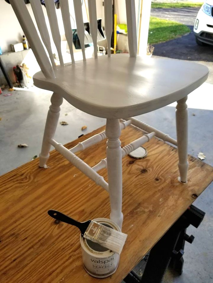 Painted White Kitchen Chair