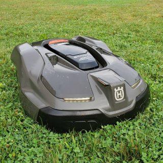 Automower cutting the grass